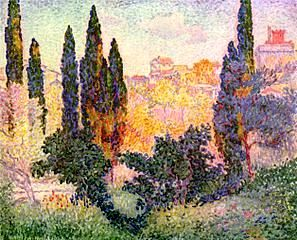 0217_Henri Edmond Cross_Cypresses at Cagnes